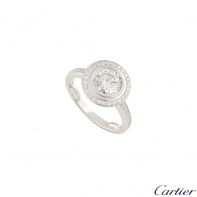 Cartier D Amour Diamond Platinum Ring